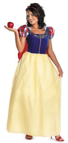 Disguise Women's Disney Snow White Deluxe Costume, Yellow/Red/Blue, X-Large
