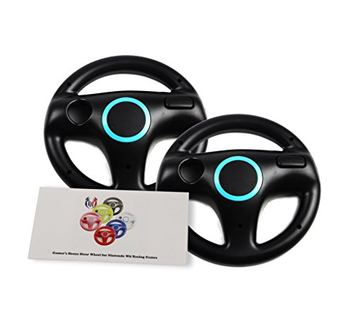 2Pcs Mario Kart Racing Wheels, Wii Wheel for Racing Games - Bomb Black (6 Colors Available) (Steering Wheel Play 2 compare prices)