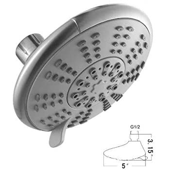 Ana Bath SS5450CBN 5 Inch 5 Function Handheld Shower and Showerhead Combo Shower System, Brushed Nickel Finish