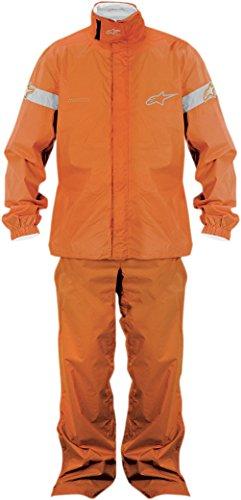 Alpinestars Quick Seal Out Rain Jacket and Pants , Gender: Mens/Unisex, Primary Color: Orange, Size: Lg, Distinct Name: Orange 3264512-40-L