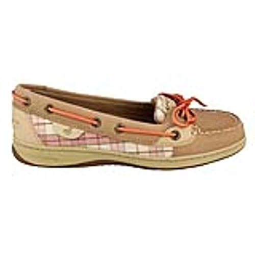 Sperry Sperry Top-Sider Women's Angelfish Slip-On,Linen/Coral Plaid (Sequins),5 M Us
