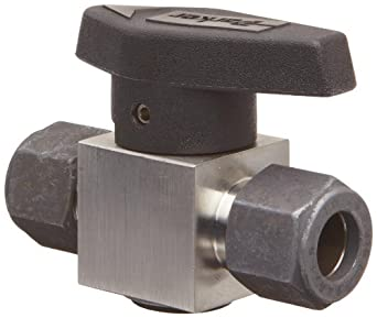 "Parker 8Z-PR6-VT-SS Stainless Steel 316 Plug Valve, 1/2"" CPI Compression Fitting"