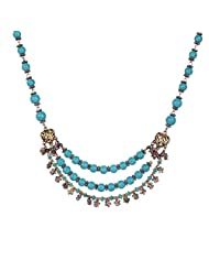 Chokers And Charms Beautiful Firozi Coloured 3 Layer Necklace For Women