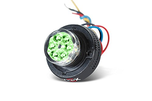 Viviox Pandora Hideaway Surface Mount Security, Fire, Police, Ems, Tow Truck Or Snow Plow, Construction Vehicle Or Command Station Light - H600-Green/Green