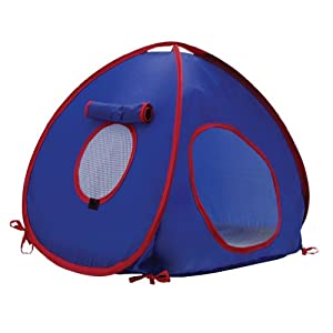Hagen Living World Tent for Pets, Blue/Red by Rolf C. Hagen (USA) Corp.