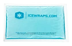 5 X 7 Pain Relief Reusable Gel Ice Packs Microwavable Hot Packs to Treat Small Body Parts, Ideal Hot Cold Pack for Joint and Muscle Pain, First Aid By IceWraps (2 Pack, Blue)