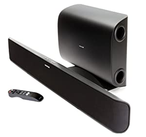 Paradigm SHIFT Series Soundtrack 2 System 2.1 Channel Fully Powered Bluetooth Soundbar and Wireless Subwoofer System (Black)