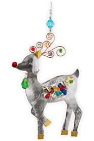 Pilgrim Imports Reindeer Metal Fair Trade Ornament