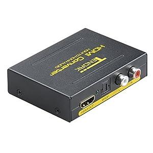 Tendak HDMIデジタルオーディオ分離器HDMI→HDMI+SPDIF+RCA L/Rオーディオ光デジタル音声/アナログ音声(RCA)1080p (50/60Hz)対応