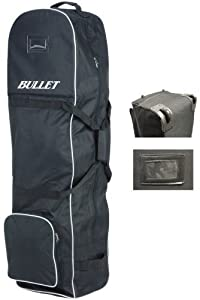 Bullet Padded Golf Bag Travel Cover with Wheels