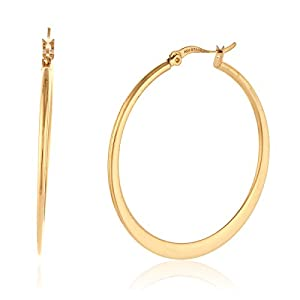 Hoop Gold Plated Earrings in Gift Box (3.9cm Diameter)
