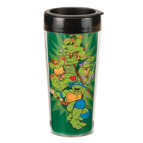 Vandor 38051 Teenage Mutant Ninja Turtles 16 oz Plastic Travel Mug, Multicolor - 1