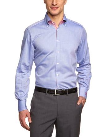 OTTO KERN Herren Businesshemd Regular Fit 50036/13041, Gr. 41, Blau (320kobalt)