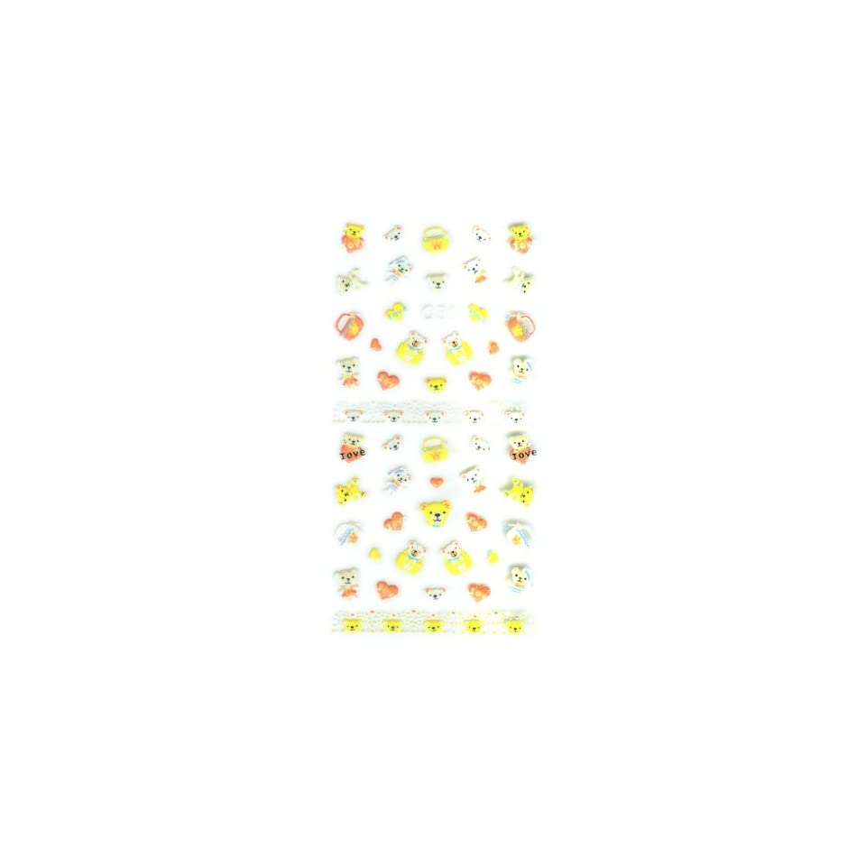 Childrens Teddy Bears, Purse & Love Nail Stickers/Decals