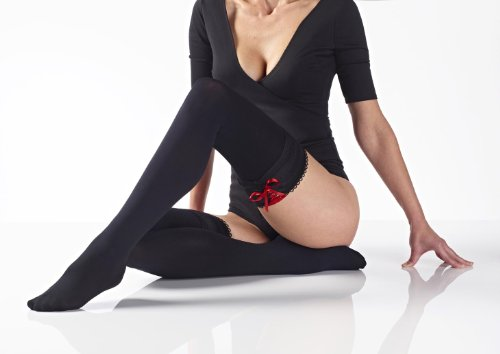 Quality 80 Denier Hold Ups Finished with a Ribbon