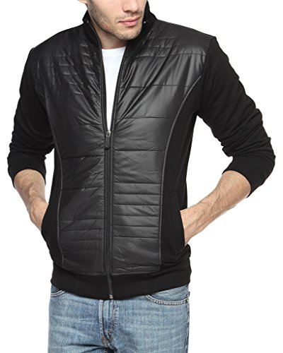 Campus Sutra Men's Cotton Jacket (AW15_JK_M_P12_BL_M__Medium)