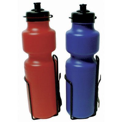 Sunlite 28oz Bicycle Water Bottle with Steel Cage Cage Red