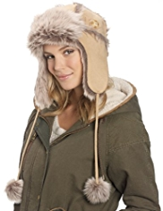 M&S Collection Faux Suede Trapper Hat