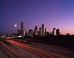 Dawn in Houston Photograph - Beautiful 16x20-inch Photographic Print by Carol M. Highsmith