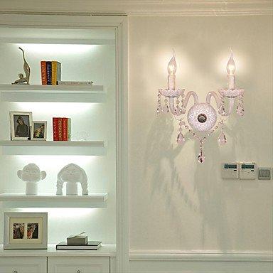 cristal murale avec 2 lumiššres dans l'ampoule bougie