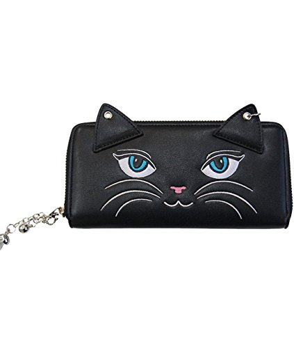Banned Portafoglio da donna Gattino-Carmen Kitty Wallet XL con campanelle