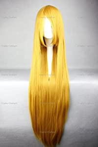 CosplayerWorld Cosplay Wigs BLEACH INOUE ORIHIME Wig For Convention Party Show Bourgois Blonde100cm 380g WIG-018c1