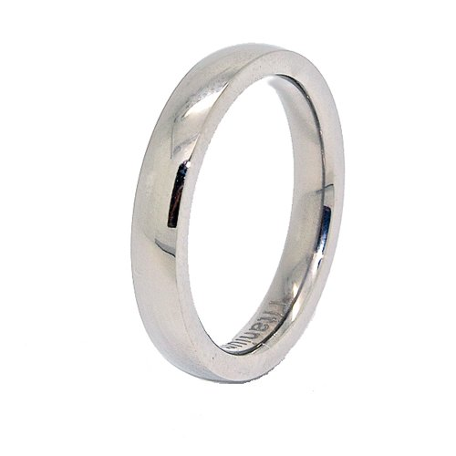 Slim 3Mm Classic Domed Titanium Wedding Band Size 7
