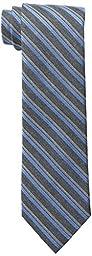 Calvin Klein Men\'s HC Flannel Satin Stripe Tie, Slate Blue, One Size