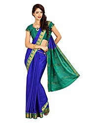 Kaushika Crepe Mysore Traditional Silk Saree Royalblue Rama