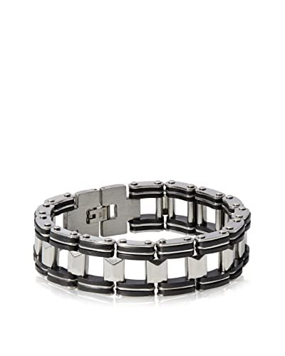 Stephen Oliver Silver and Black Link Bracelet