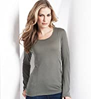 Long Sleeve Scoop Neck Jersey Top