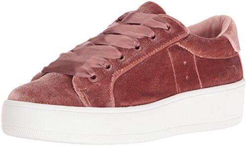 Steve Madden Women's Bertie-V Fashion Sneaker, Blush Velvet, 8.5 M US