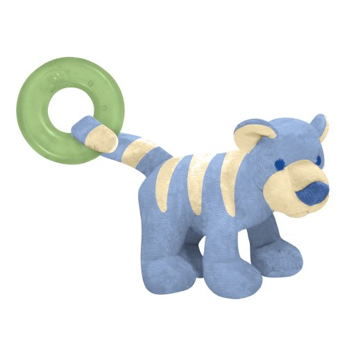 green sprouts Organic Terry Circus Animal Teether-Cornflower Tiger