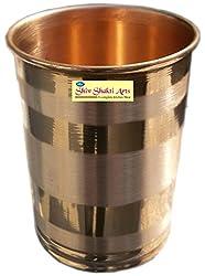 SHIV SHAKTI ARTS 1 Copper silver touch glass capacity = 200 ml