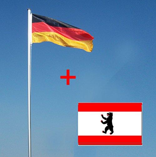Selbstklebende Tapete Abl?sen : Wohnwerk! Flaggenmast 4m mit Deutschlandfahne und extra Fahne Ihrer