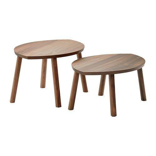 IKEA-STOCKHOLM-Satztische-aus-Nussbaumfurnier-2-Stck