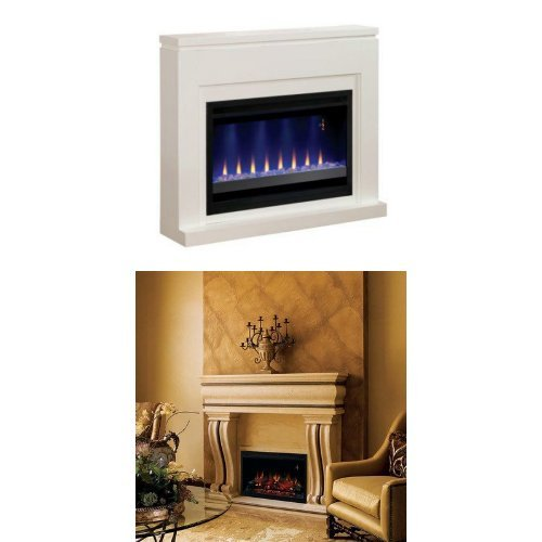 """Complete Set Contemporary Design Builders Mantel With 36"""" 220V Builders Box Traditional"""