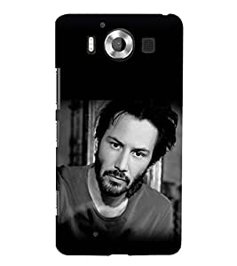 printtech Hollywood Hero Back Case Cover for Nokia Lumia 950 / Microsoft Lumia 950