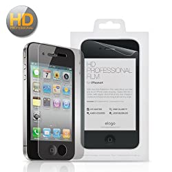 elago HD Professional Extreme Clear (Anti-Reflective Optical Coating) film Set for iphone4 + Microfiber Cleaner