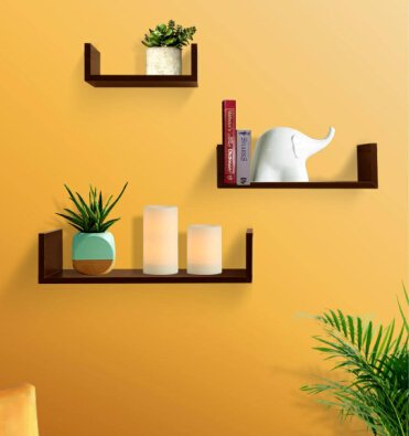 Shelving Solution Set of 3 Floating U Shelves (Espresso 1)