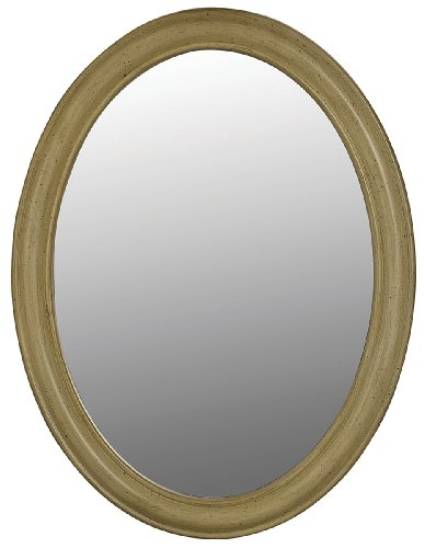 Belle Foret BF80043 Oval Mirror, Antique Parchment