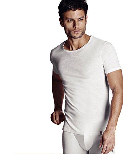 FILA - FILA Underwear - Pack da 2 pezzi - Maglia girocollo in cotone (46058) - M, Nero
