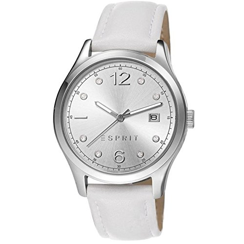 Esprit Tracy White Es106692008 36Mm Stainless Steel Case White Calfskin Mineral Women'S Watch