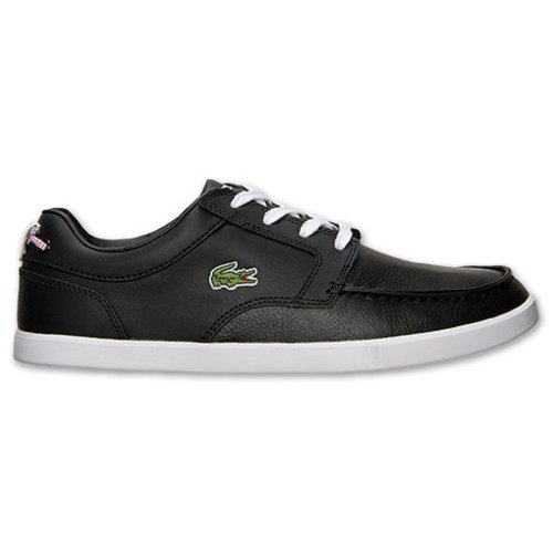 Lacoste Sport Mens Black Leather Casual Bowrey PNA Boat Shoes