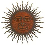 """Sweet Smiling Sun Metal Wall Hanging Art 24 """""""