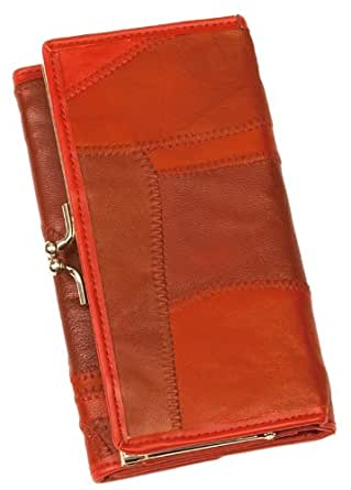 Red Ladies Leather Wallet and Coin Purse