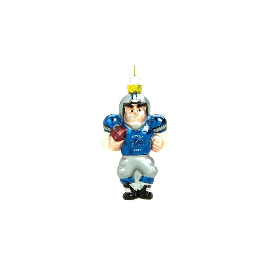 Detroit Lions Nfl Glass Player Ornament (5 Caucasian)