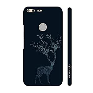 Enthopia Designer Hardshell Case Deer Branching Out Back Cover for Google Pixel