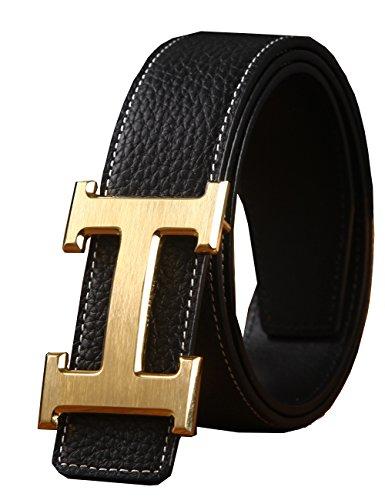 menschwear-mens-belts-full-leather-steel-slide-buckle-black-golden-115cm