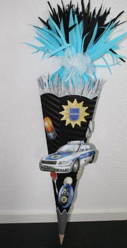 Bastelset Schultüte Zuckertüte Polizei mit 3-D XXL Motiven